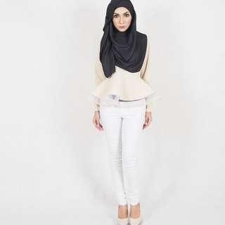Cream Syira Blouse