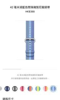Apple Watch 42mm 湖藍色間條織製尼龍錶帶