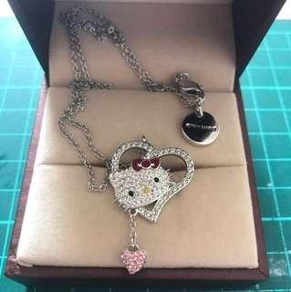 施华洛世奇hello kitty水晶项链