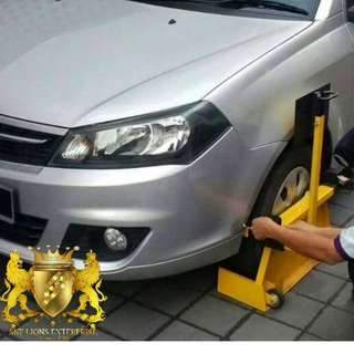 VEHICLE CLAMP / WHEEL CLAMP / TYRE CLAMP