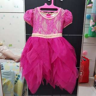 Baby Girl Party Dress Fuschia