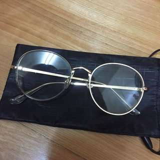 🚚 近全新 割愛🔥正韓金框造型眼鏡❗️原價$1080