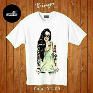 gaga tee  bahan spandex combed 30s fit to L