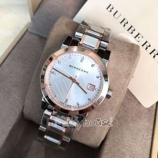 Burberry Silver Dial Two-tone Ladies Watch