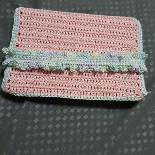 Crocheted passport cover