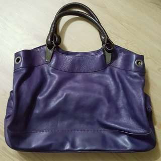 Kenzo leather handbag (plain purple color)