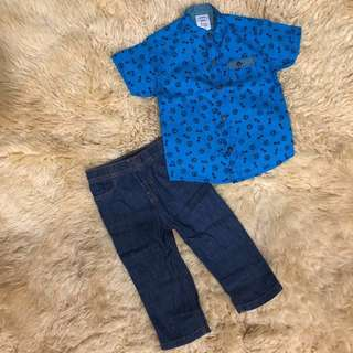 Carter's boy shirt & Jean set