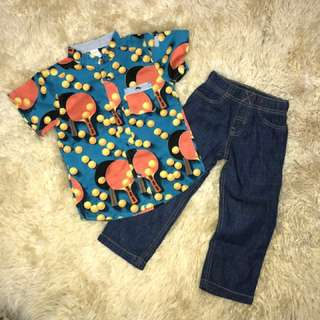 Carters Shirt & Jean Set
