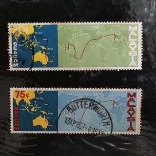 Malaysia 1967 SEACOM & COMPAC cable routes