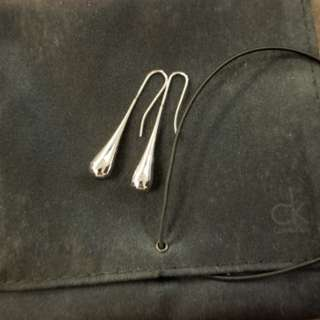 Calvin Klein Stainless Steel Ellipse Earrings