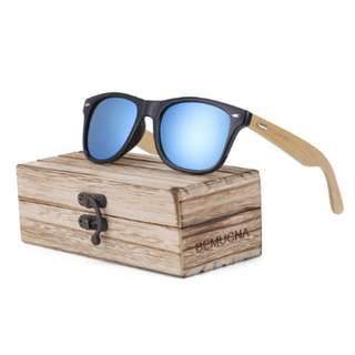 [PO - Pre Launch] Natural Handmade HD Bamboo Sunglasses Wooden glasses For Men/ Women
