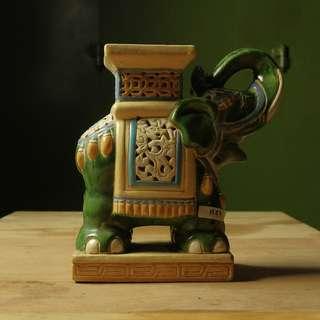 Dekorasi Gajah Besaar Keramik (H.47)