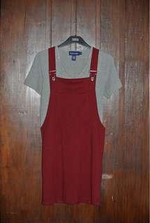 Maroon Jumper Dress