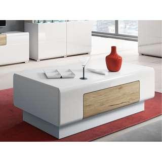 Coffee table white/ oak san remo
