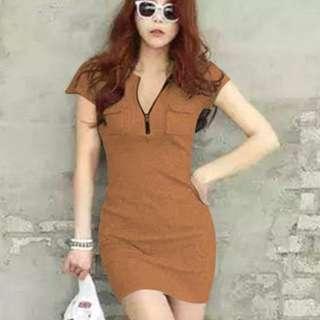 Mini Dress w/ front zipper