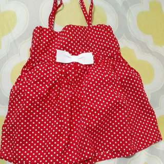 baby girl red top