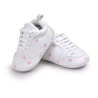 🦁Instock - pink star crib shoes, baby infant toddler girl children glad cute 123456789