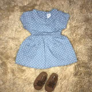 Carter's polka dot dress