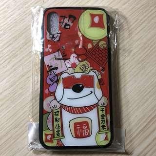 Iphone x 賀年招財狗 玻璃電話殼 iphone case