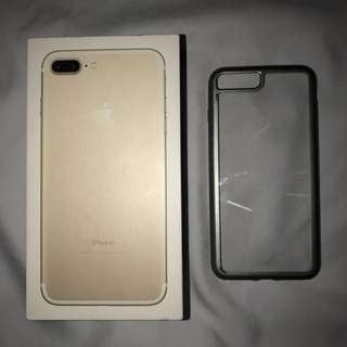 IPHONE 7PLUS Toshi Gray Clear Back Case.