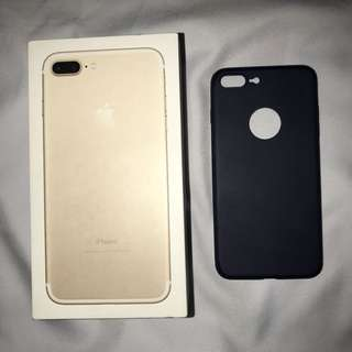 IPHONE 7PLUS Ultra Thin Navy Blue Rubber Case.