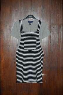 Black Stripes Jumper Dress