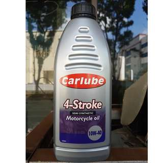 Carlube 4 Stroke 10w40 motorcycle engine oil 1L on Offer! Brand New!