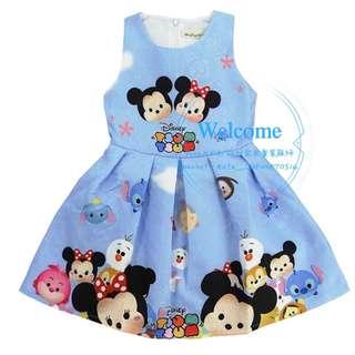 Ready Stock Tsum Tsum Kids Dress