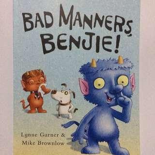 Bad Manners Benjie Buku Cerita Anak Impor