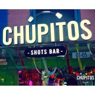 CHUPITOS shot bar - $20 Drinks Voucher