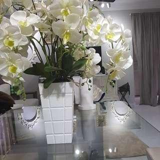 Beautiful White Orchids (PVC)
