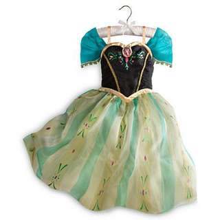 AUTHENTIC DISNEY OFFICIAL LICENSED FROZEN ANNA CORONATION GOWN 5-6T