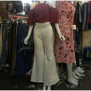 Baju sabrina dan celana