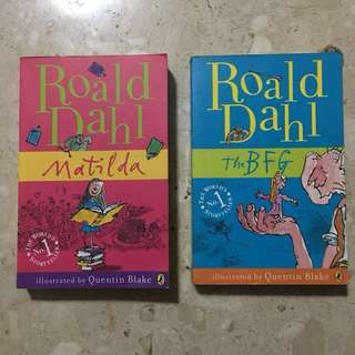 Roald Dahl Books - Matilda and The BFG