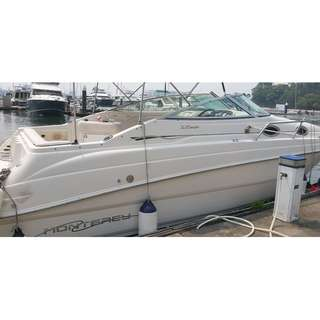 Used boat Monterey 262CR with cabin to be your house sell $58000 NETT, call 92308506