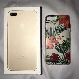 IPHONE 7PLUS Floral Clear Case