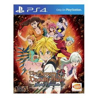 PS4 The Seven Deadly Sins: Knights of Britannia