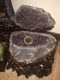 Brazil Purple Amnesty Stone Cave Metal Element 紫晶洞 金型