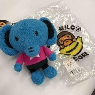 Baby milo ape 猿人毛公仔吊飾