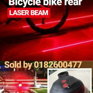 Warning lamp laser led bicycle bike rear
