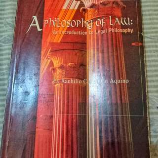 A Philosophy of Law by Fr. Ranhilio Aquino