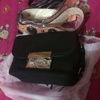 Tas Zara double leather Original Import