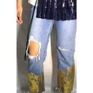 Gold Print jeans