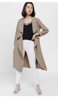 Weistra Waterfall Belted Wrap Coat