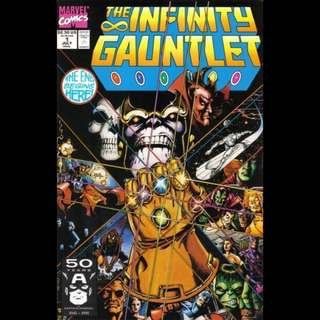 THE INFINITY GAUNTLET #1 (1991) First issue! Movie coming soon!