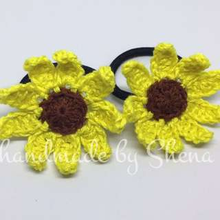 Crochet Sunflower Ponytail (A)