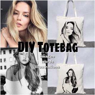 DIY CUSTOMIZE PERSONALIZE CANVAS TOTE BAG