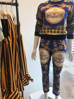 Hermes top & pants set