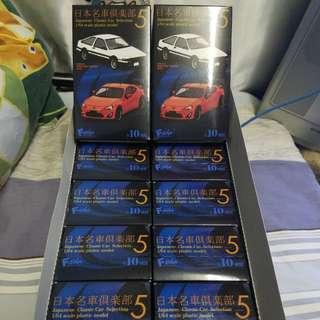 全新原裝正貨 f-toys日本名車倶樂部 Toyota Part5  AE86 ZN6 1比64 車輛 原Box十隻