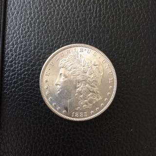 USA Morgan UNC 1885 silver dollar